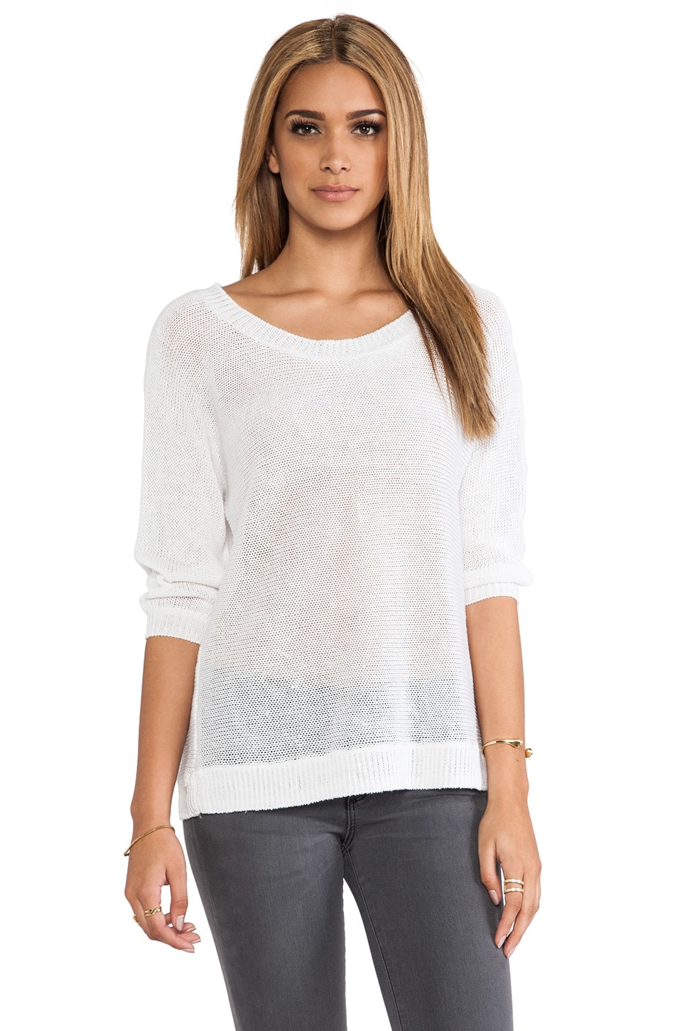 360CASHMERE Oasis Sweater in White