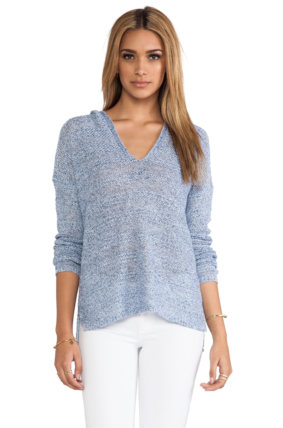 360CASHMERE Farrah Sweater in Denim