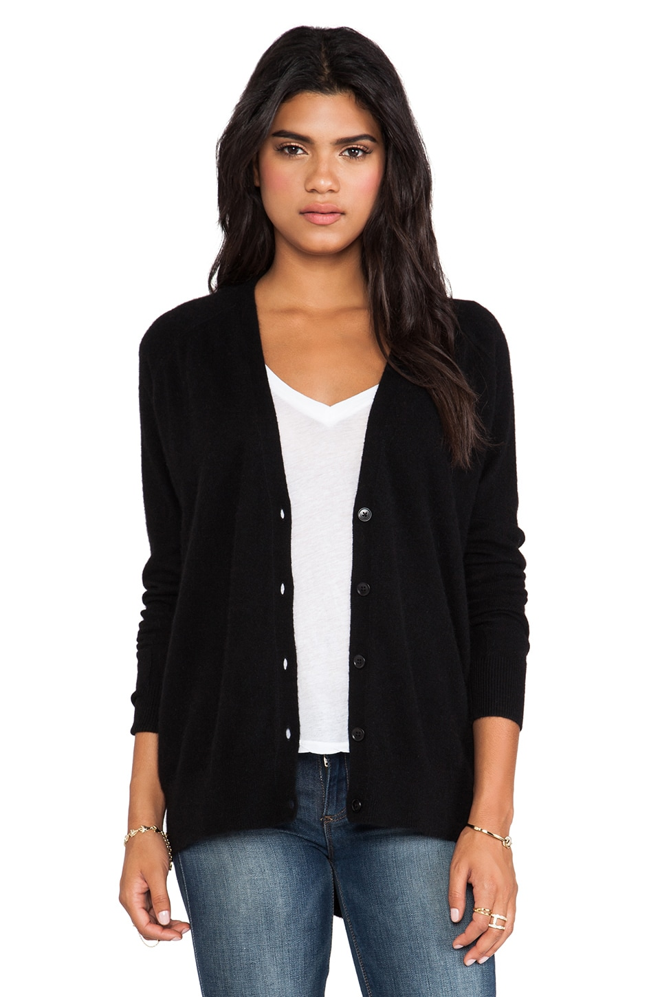 360 Sweater Milan Cardigan in Black