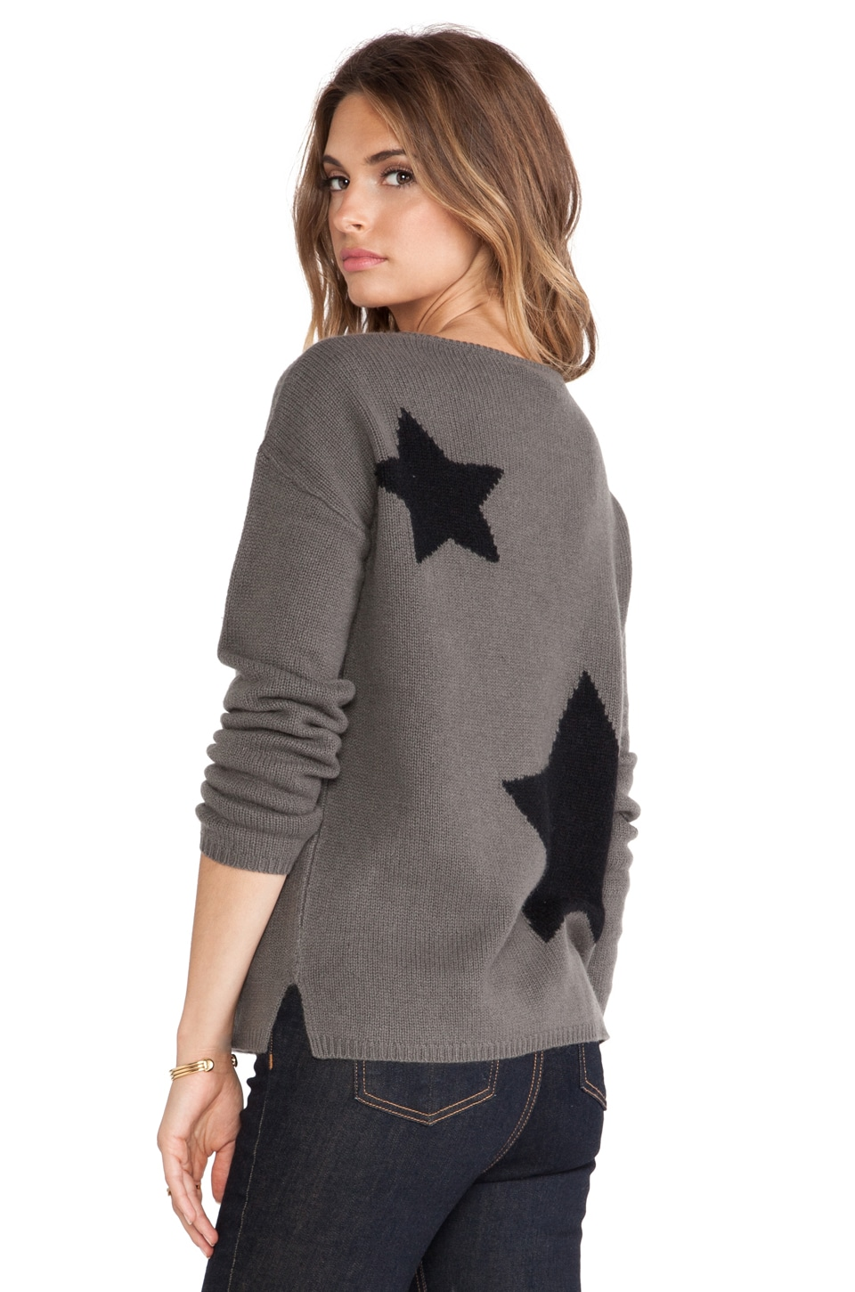 360CASHMERE Sky Sweater in Army & Black