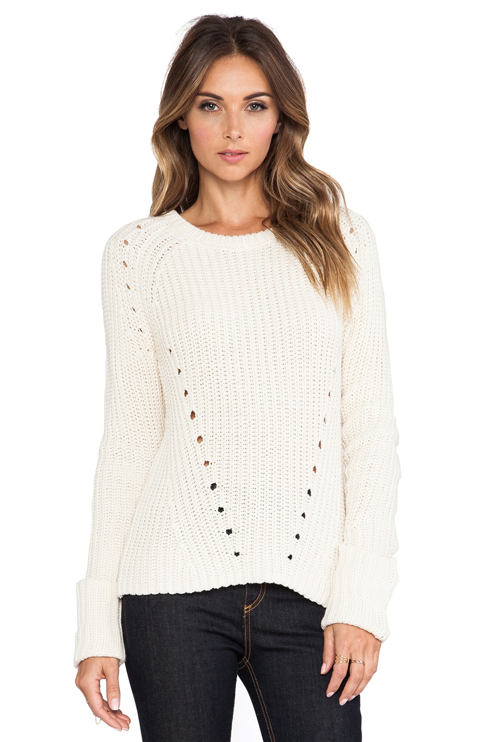 360 Sweater Lucia Sweater in Ivory