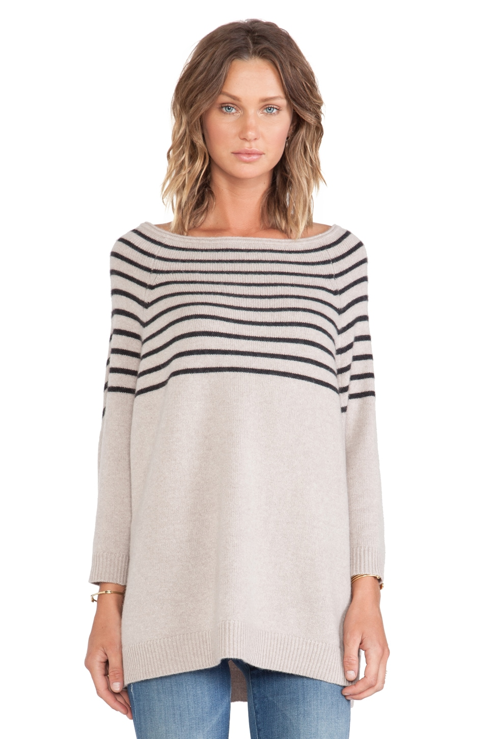 360 Sweater Margot Sweater in Sable & Cinder Stripe