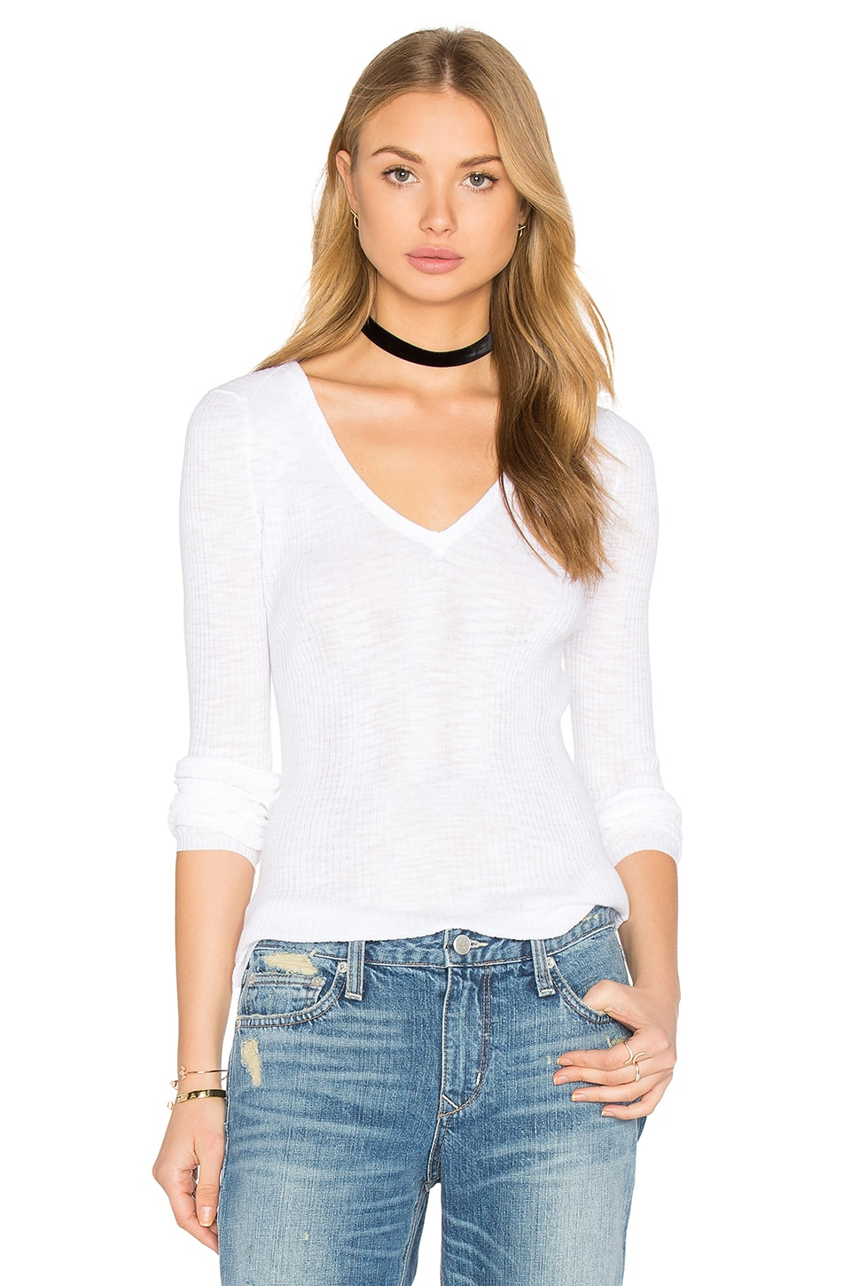 Linde V Neck Sweater by 360 Sweater