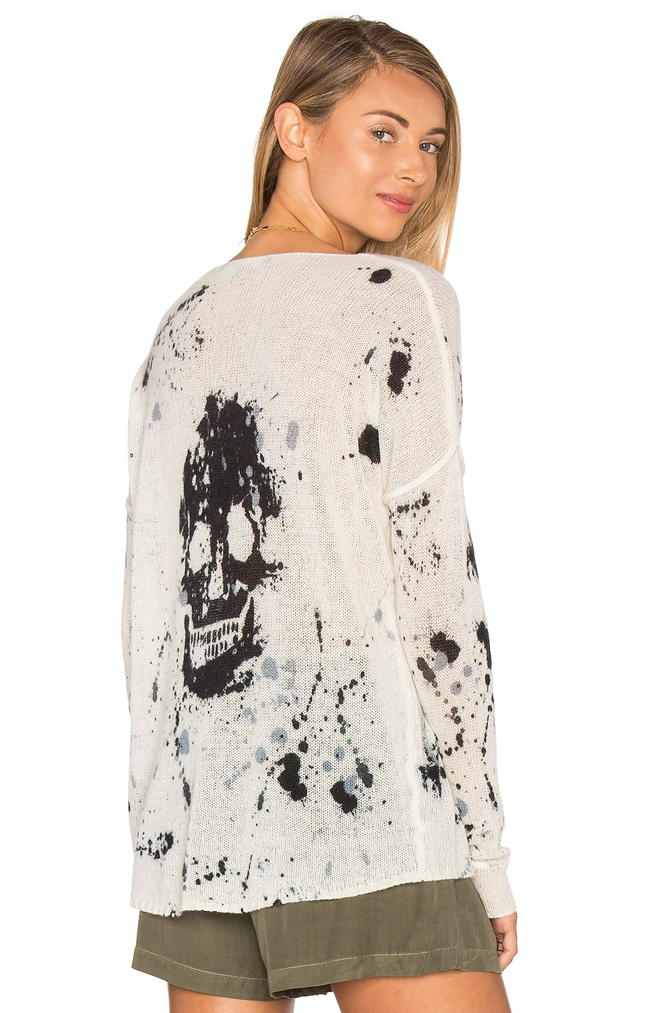 360CASHMERE Spark Cashmere Skull Sweater in Multi