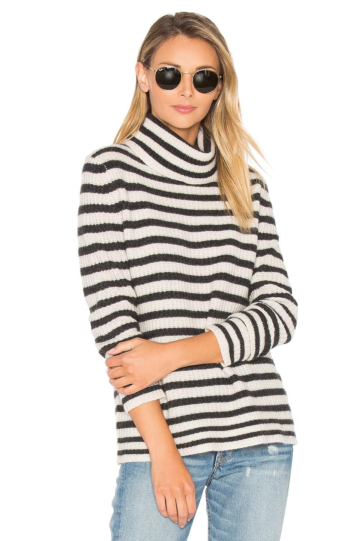 360 Sweater Quinn Stripe Sweater in Cinder & Adobe