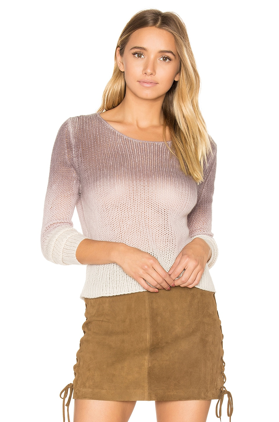 360CASHMERE Katarina Sweater in Mauve & Flower