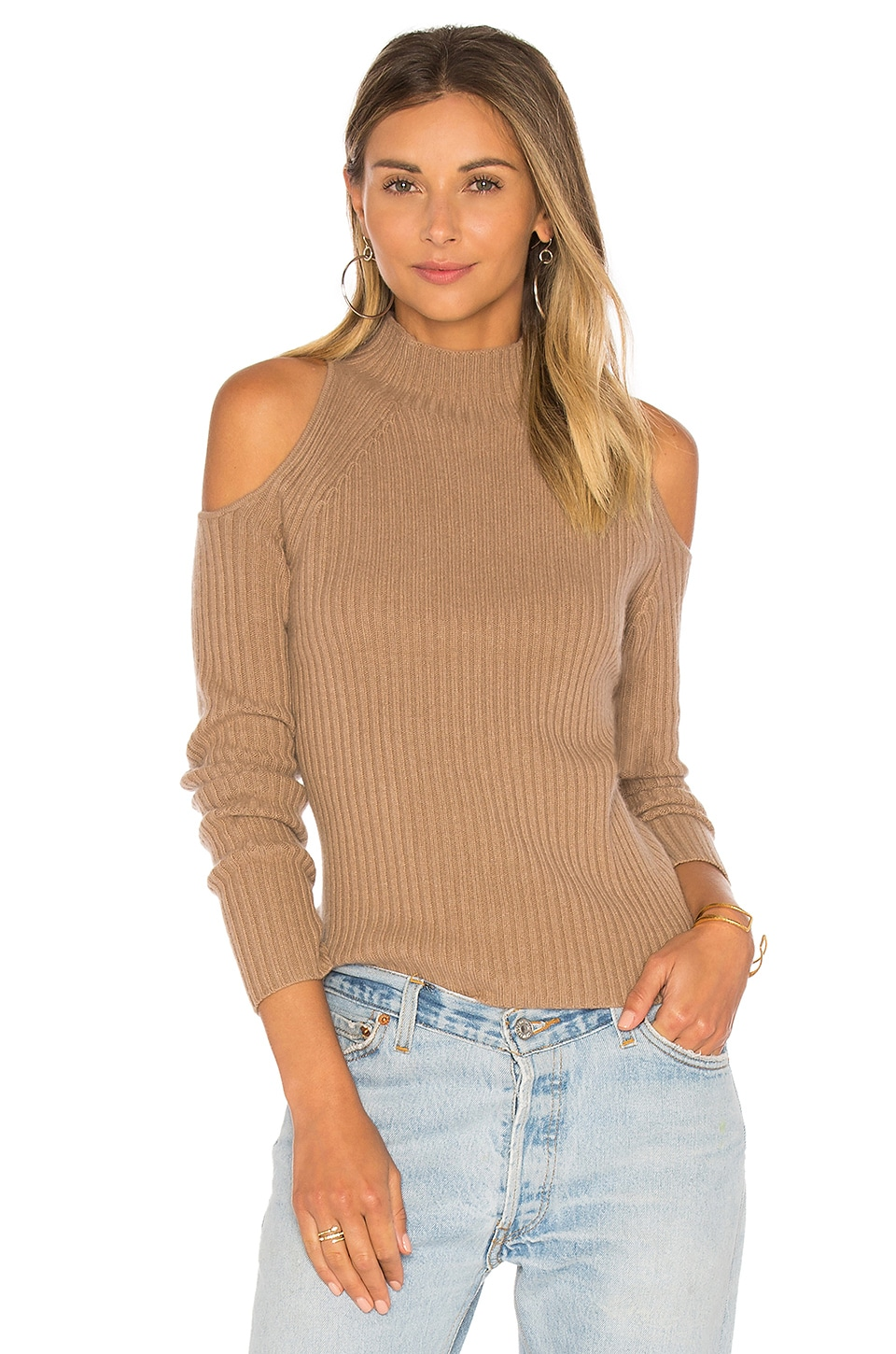 360 Sweater x REVOLVE Gianna Cold Shoulder in Faune