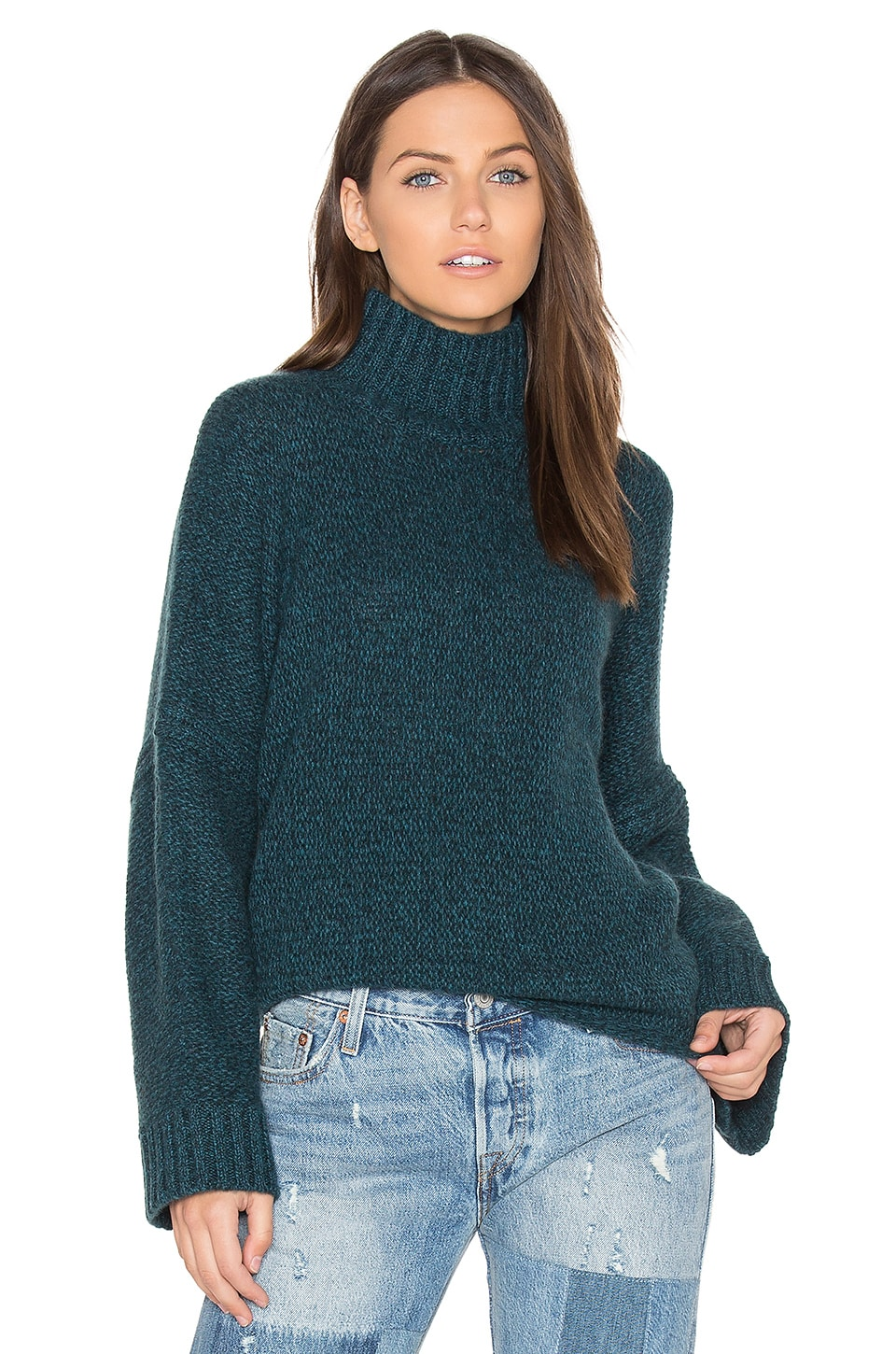 360CASHMERE Chandler Sweater in Lagoon