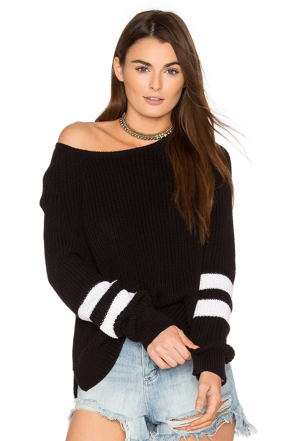 360CASHMERE Cirilla Sweater in Black & White