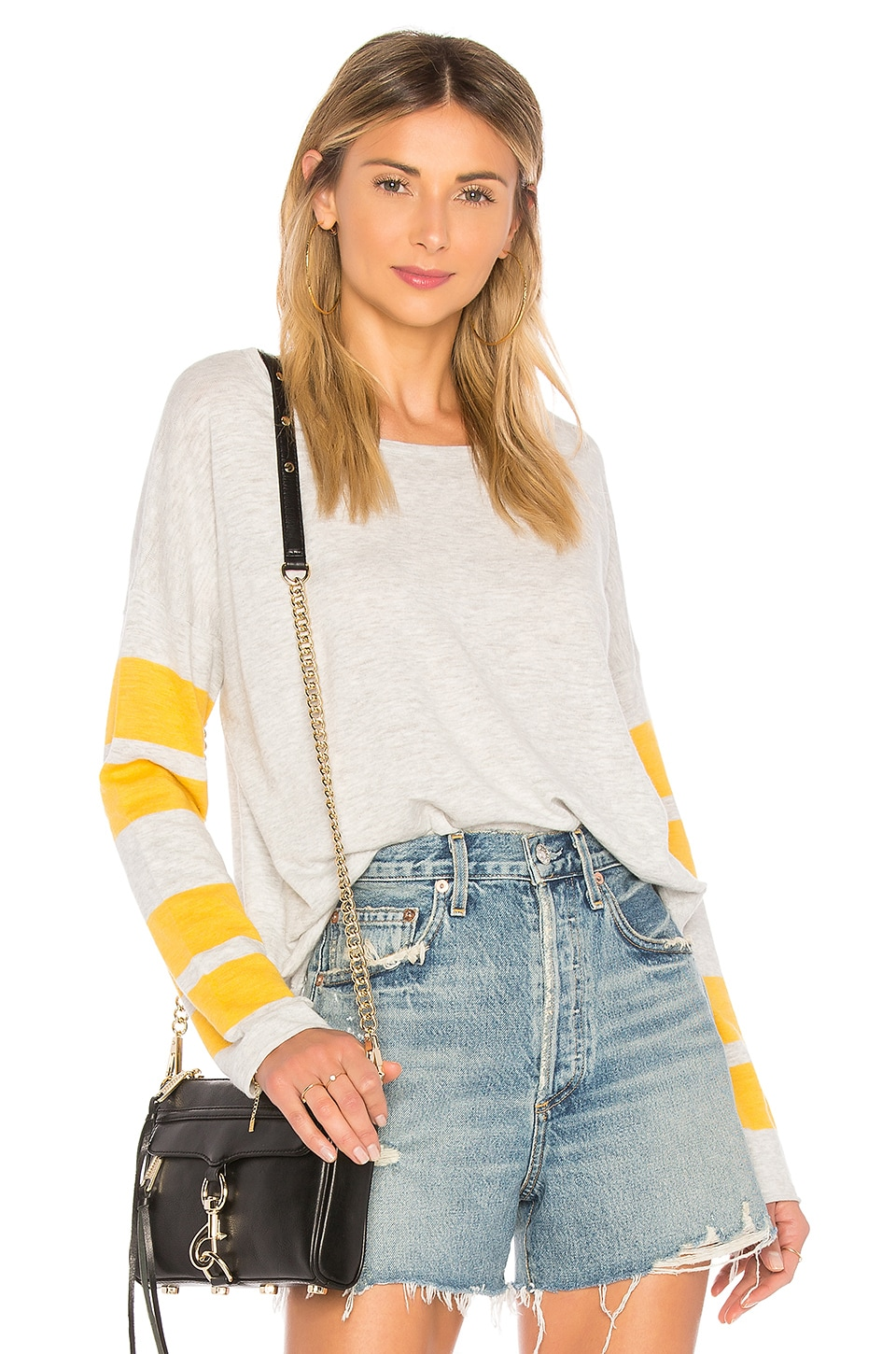 360CASHMERE Melina Sweater in Vapor & Sunshine