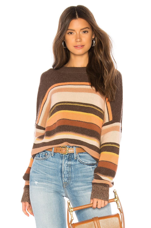 360CASHMERE Jilian Sweater in Truffle & Multi