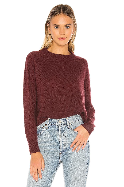 360CASHMERE Gracie Sweater in Merlot   REVOLVE