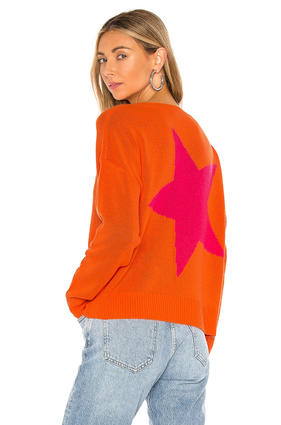 360CASHMERE Levi Sweater in Laser & Dayglo