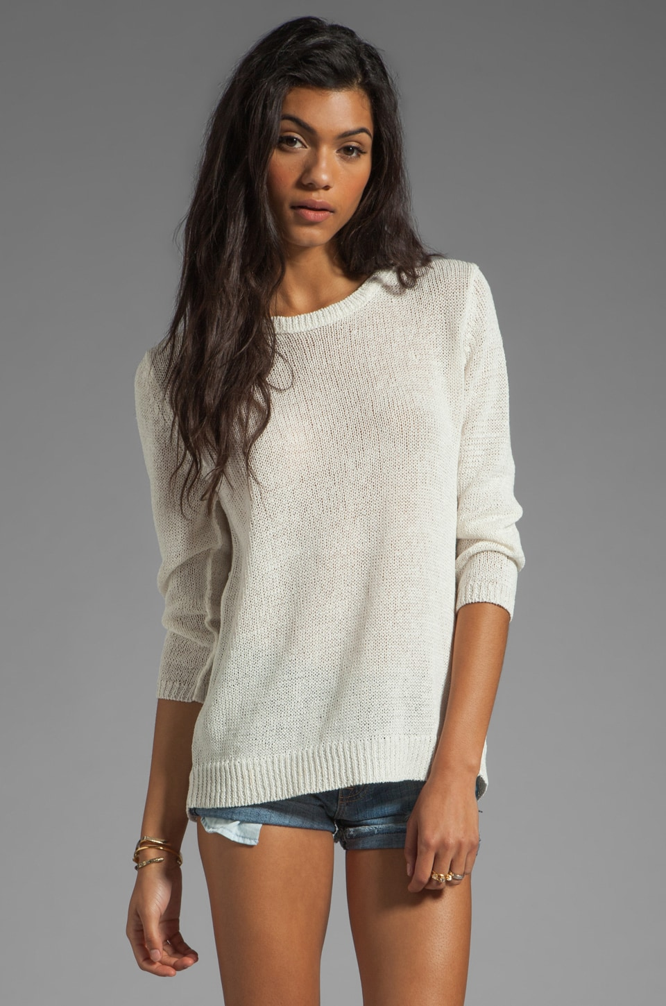 360CASHMERE Julian Paper Sweater in White