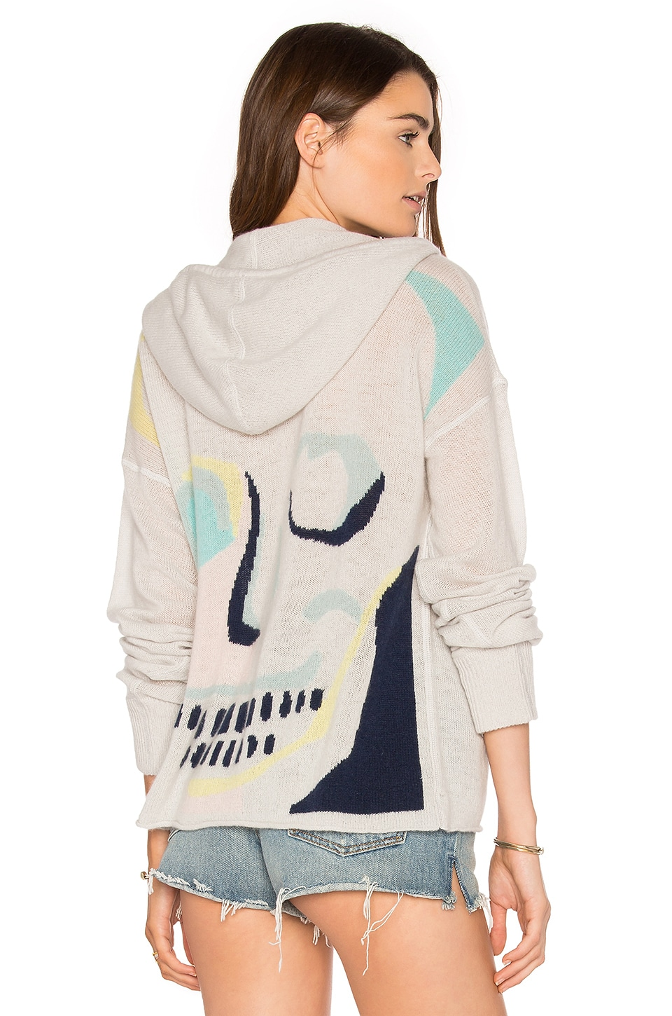 360 Sweater Sonja Cashmere Hoodie in Raindrop & Multi