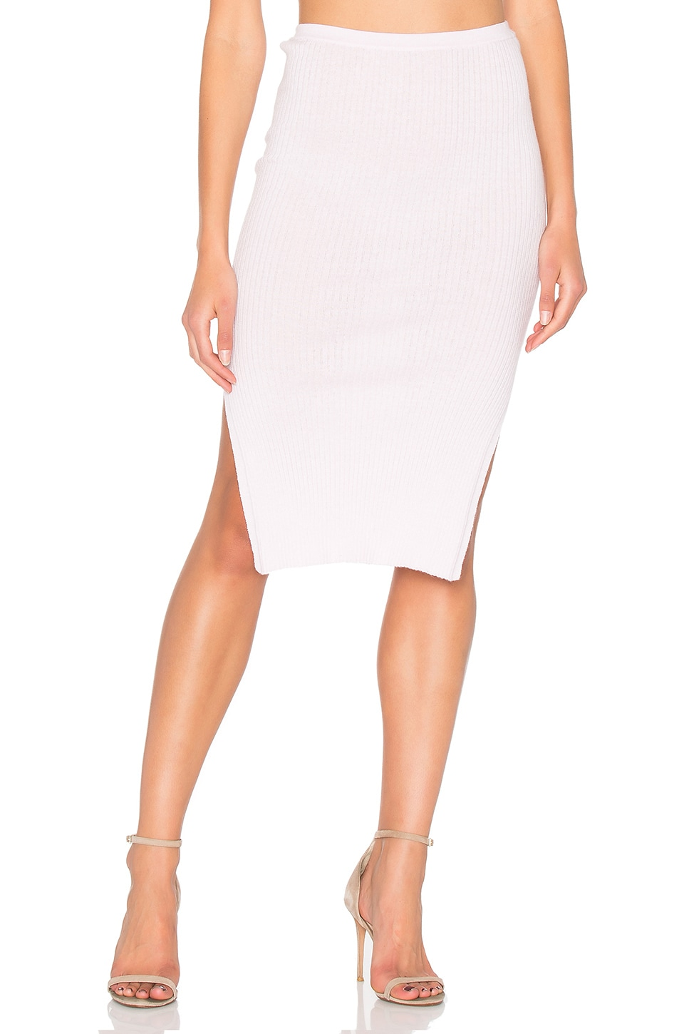 360CASHMERE x Hanna Beth Manuela Skirt in Powder Puff