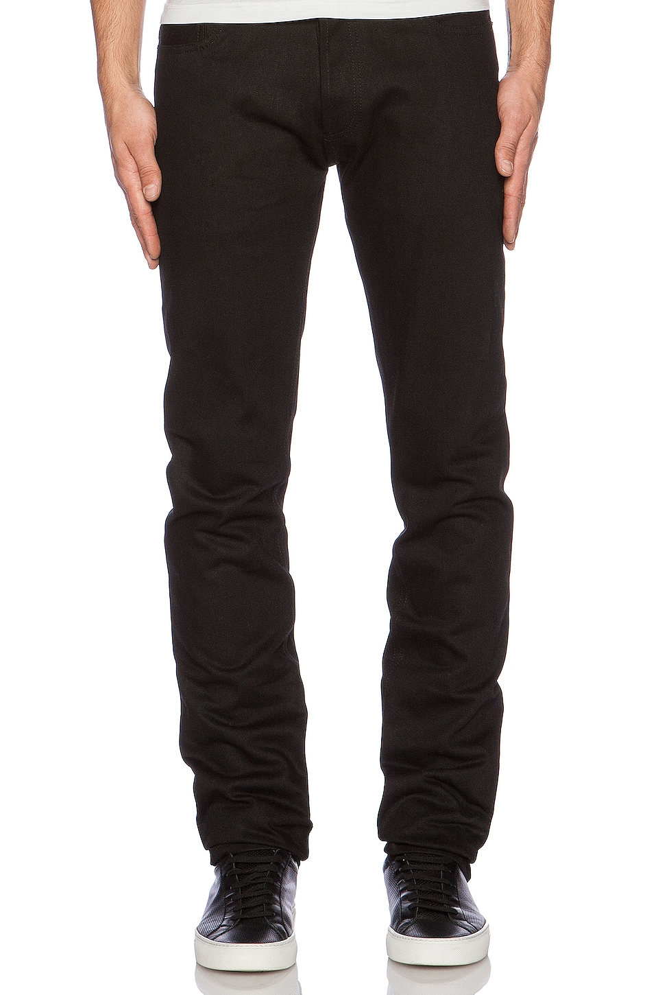 3sixteen Slim Tapered Denim in Double Black Selvedge