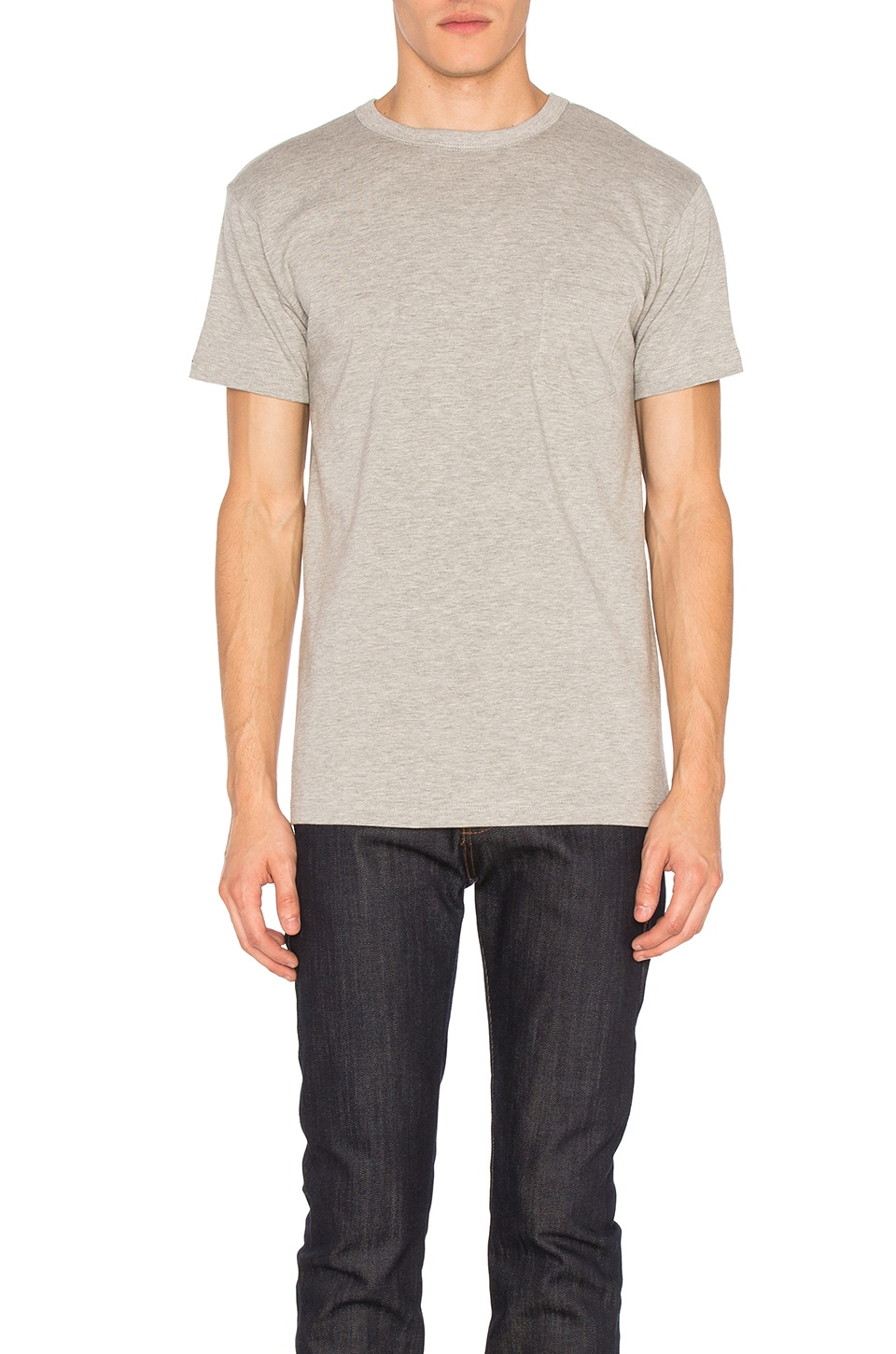 3sixteen Heavyweight Pocket Tee 2 Pack in Heather Grey