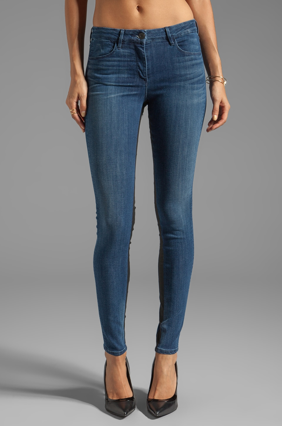 3x1 Mid Rise Channel Skinny in Indigo