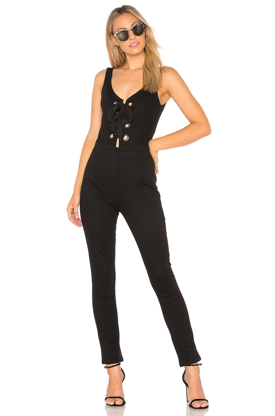 3x1 Lacy Jumpsuit in Black No 1