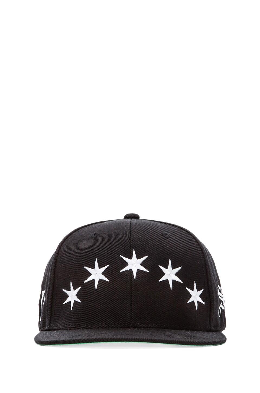 40 OZ NY Six Pointed BLVCK Snapback in Black
