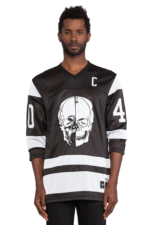 40 OZ NY Skull Hockey Jersey in Black