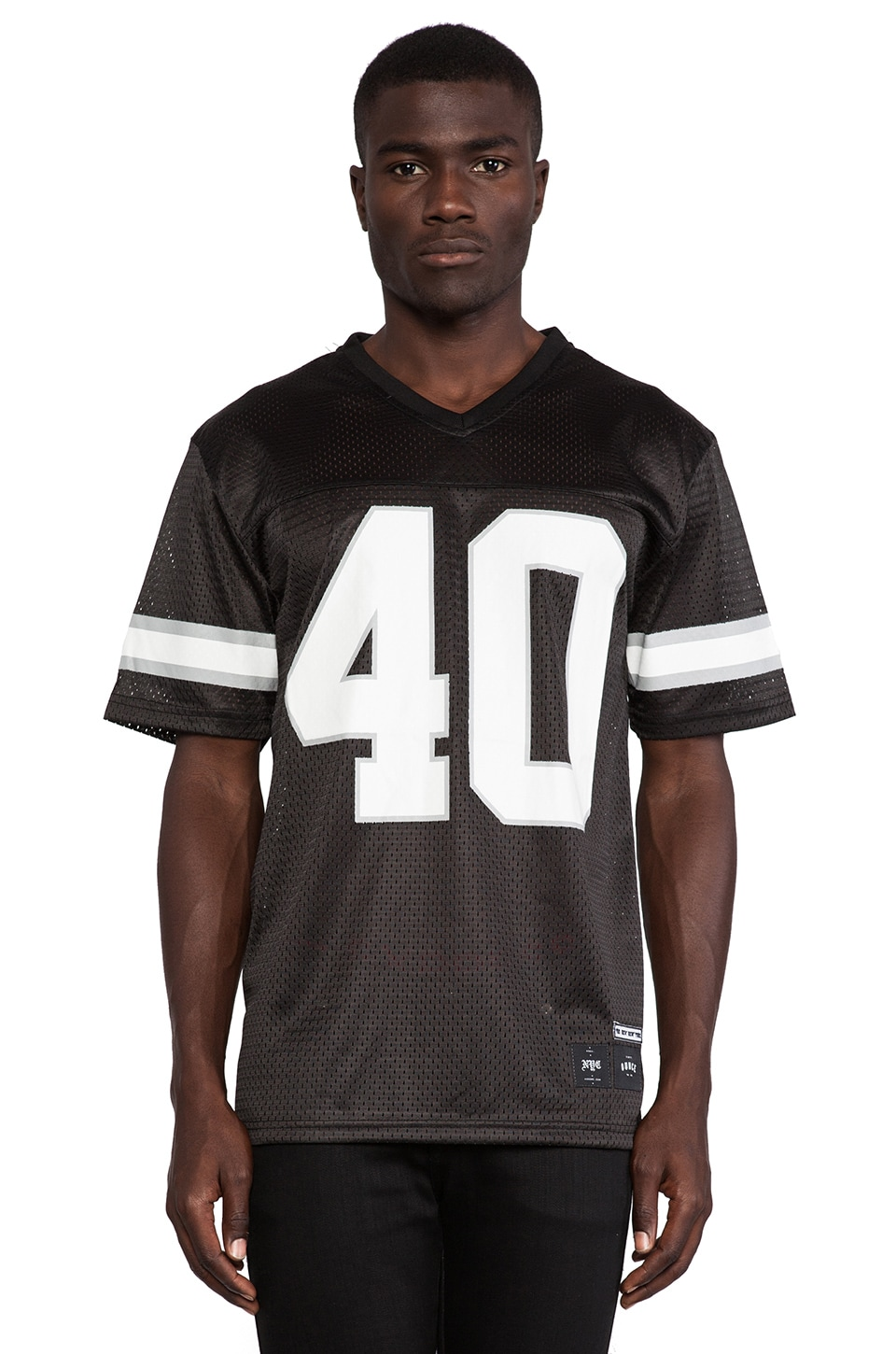 40 OZ NY 40 OZ NY Football Jersey in Black