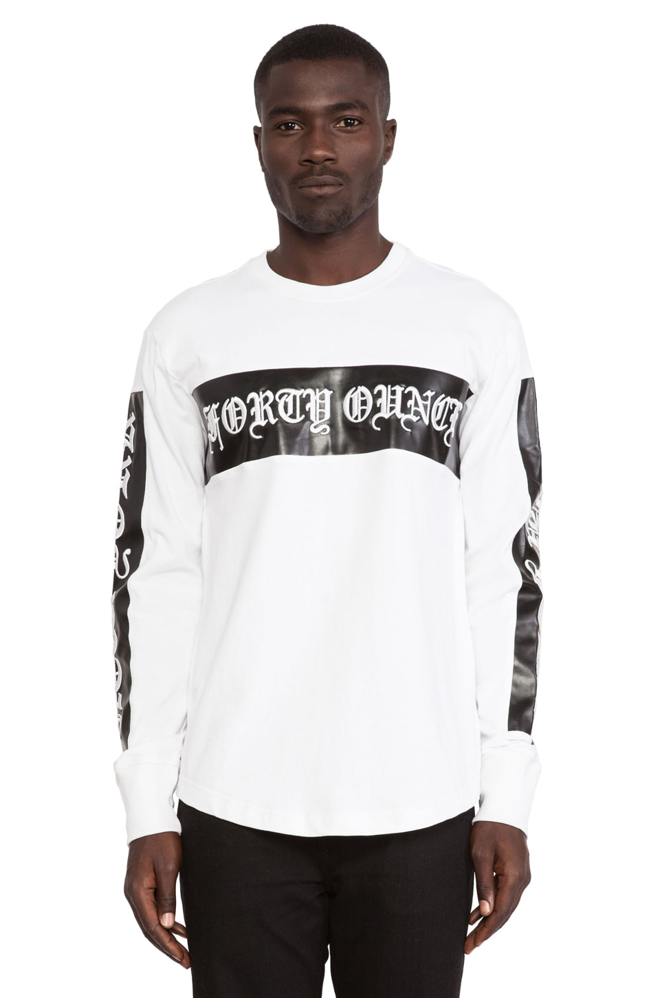 40 OZ NY L/S Tee in White