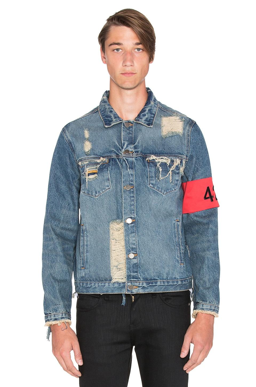 424 Distressed Denim Jacket in Washed Blue | REVOLVE