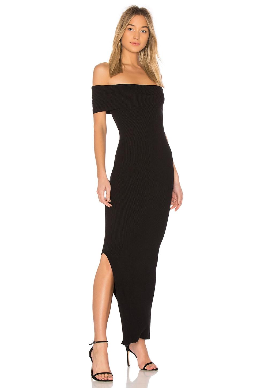 525 america Off the Shoulder Maxi Dress in Black