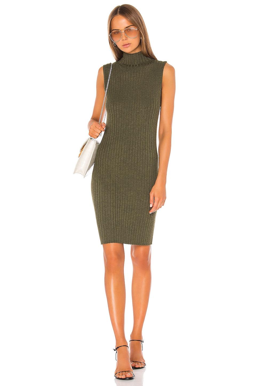 525 america Mock Neck Dress in Olive Melange