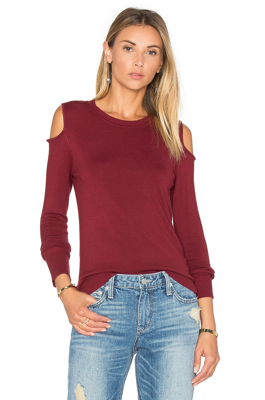 525 america Open Shoulder Sweater in Malbec