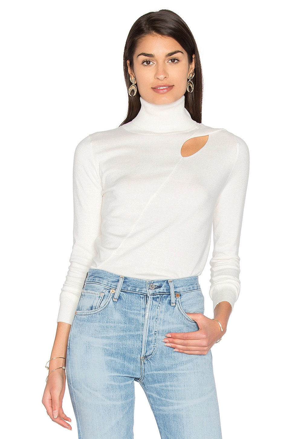 525 america Cut Out Sweater in White Cap