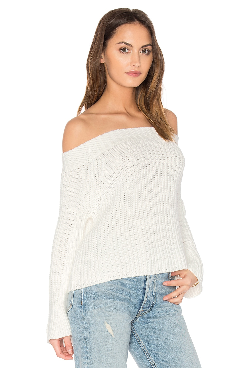 525 america Off Shoulder Sweater in Bleach White