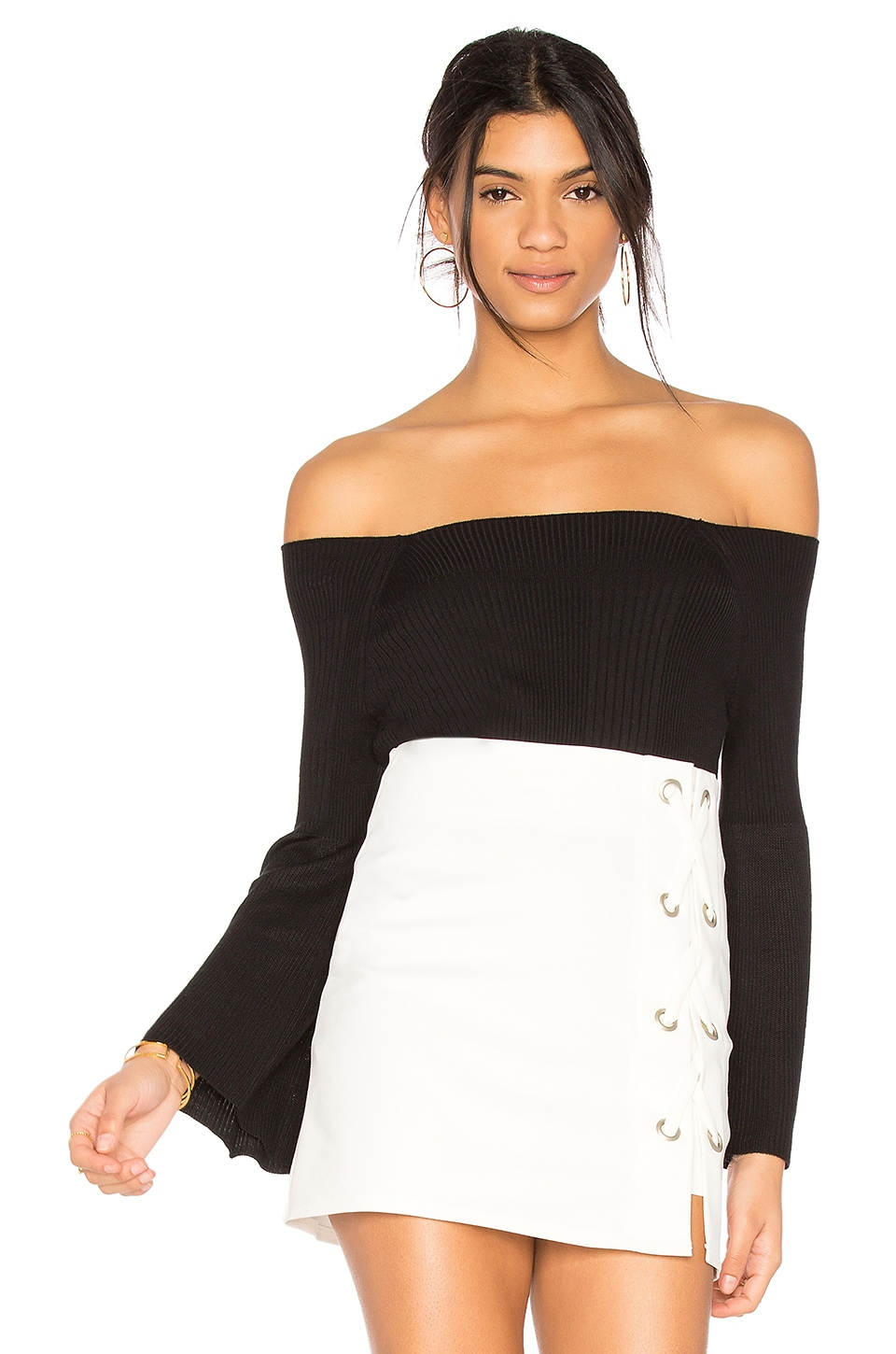 525 america Off Shoulder Sweater in Black