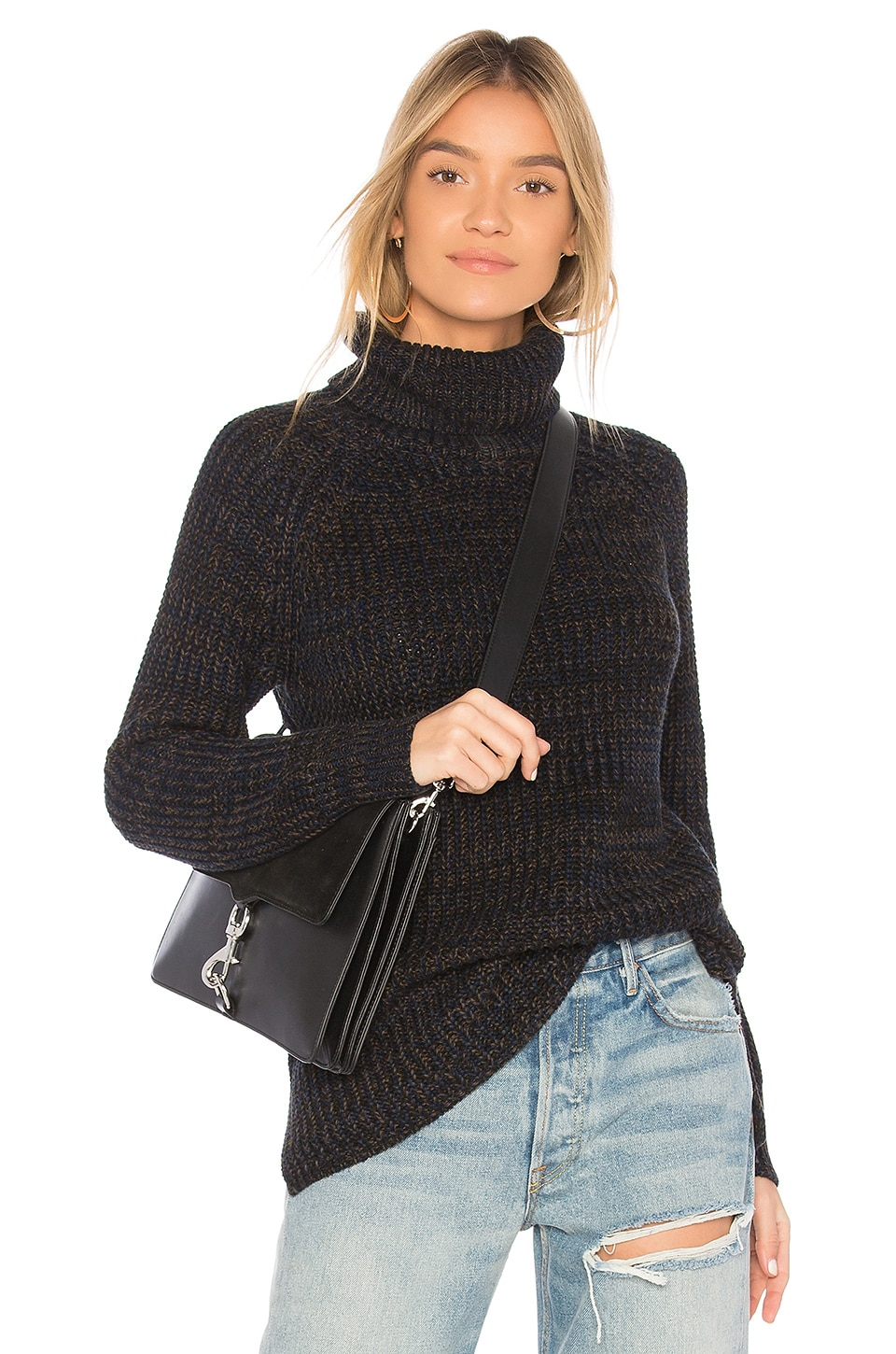 525 america Turtleneck Sweater in Black Combo