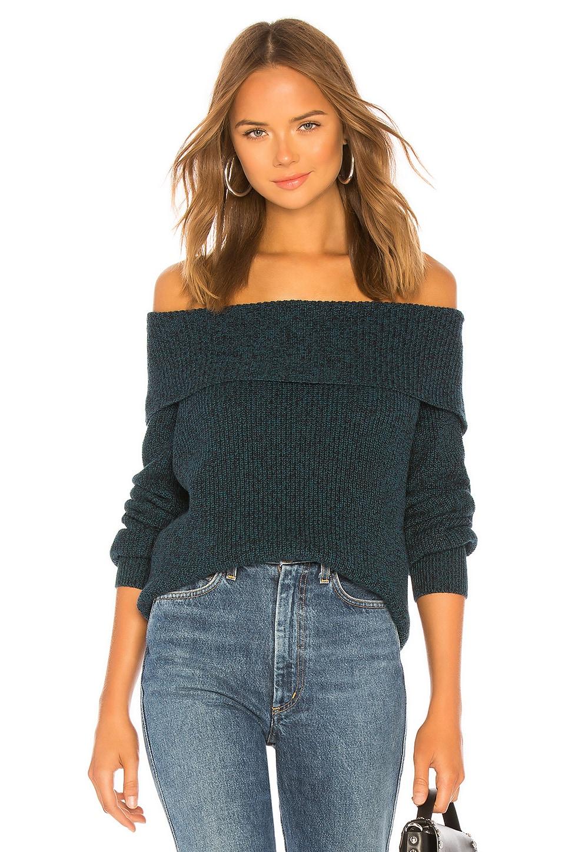 525 america Off The Shoulder Sweater in Dark Teal
