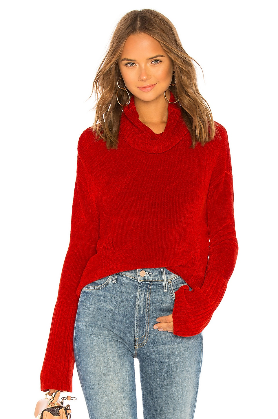 525 america Chenille Turtleneck in Cardinal Red