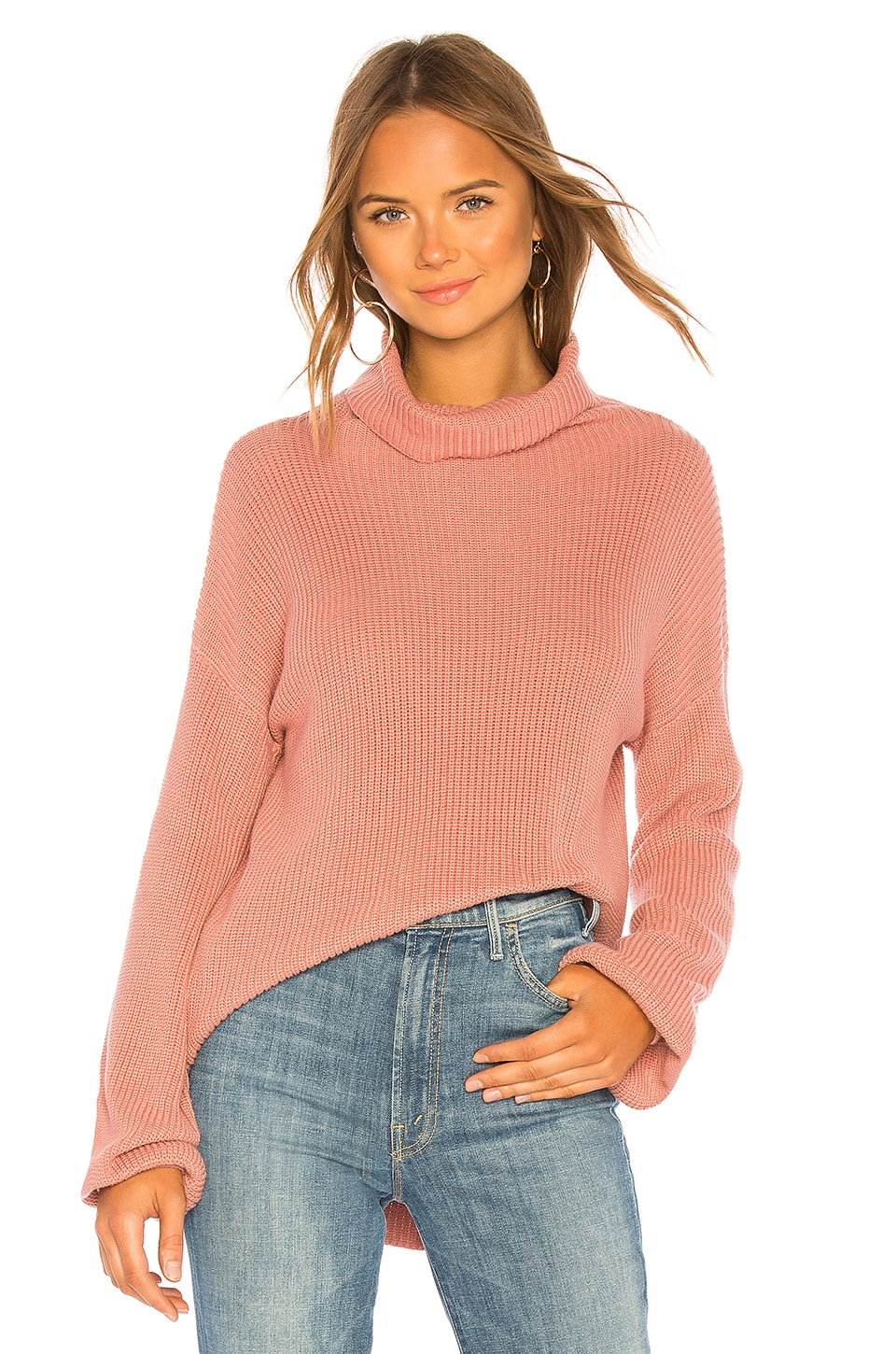 525 america Balloon Sleeve Turtleneck in Rose