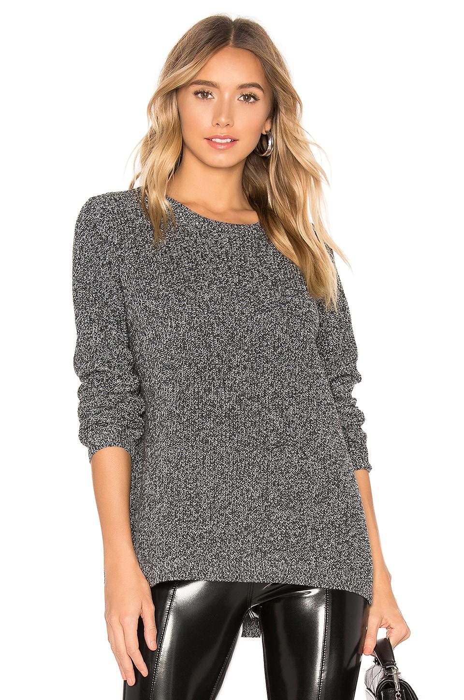 525 america Emma Shaker Sweater in Charcoal Multi