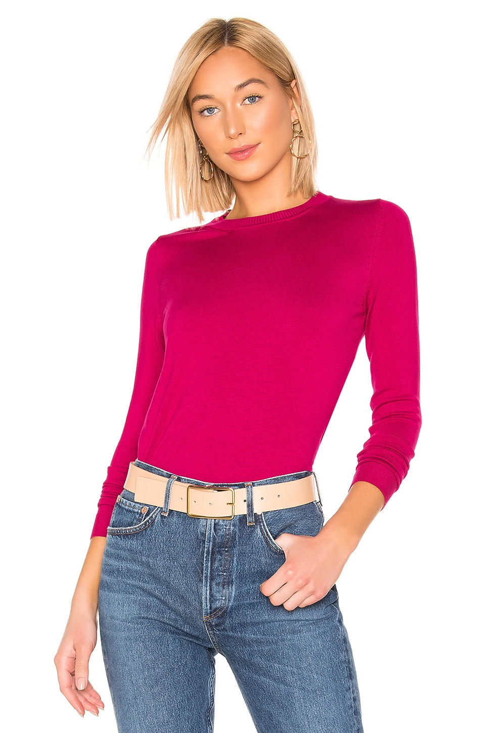 525 america Crew Neck Sweater in Magenta