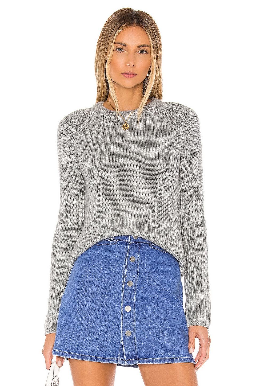 525 america Jane Raglan Shaker Pullover in Steel Grey Melange