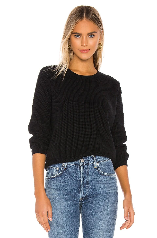 525 america Emma Shaker Sweater in Black