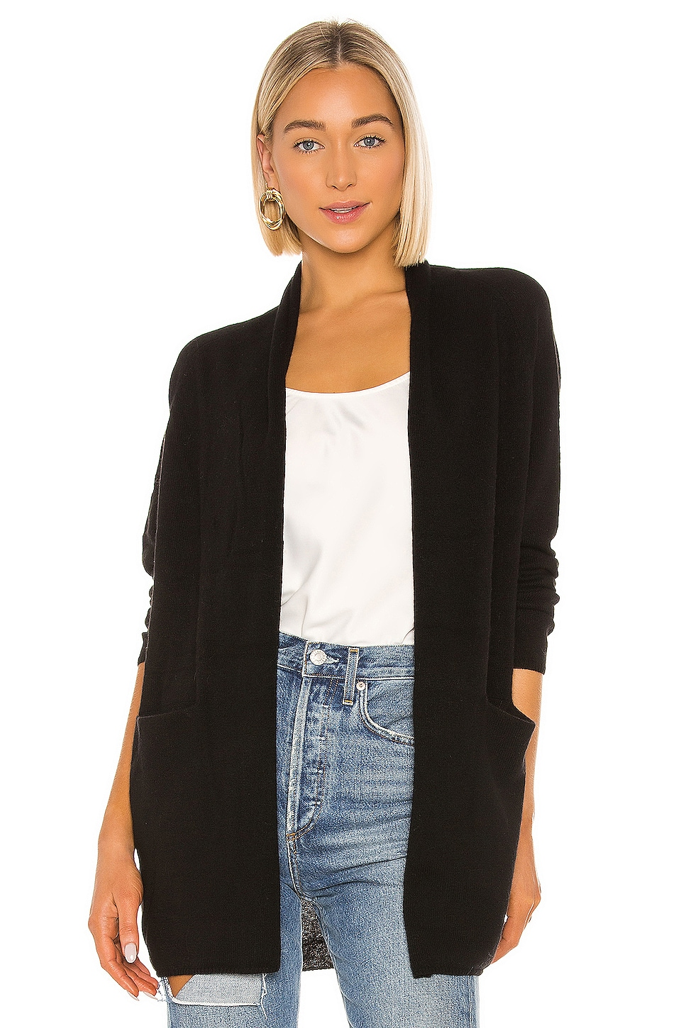 525 america Cashmere Cardigan in Black
