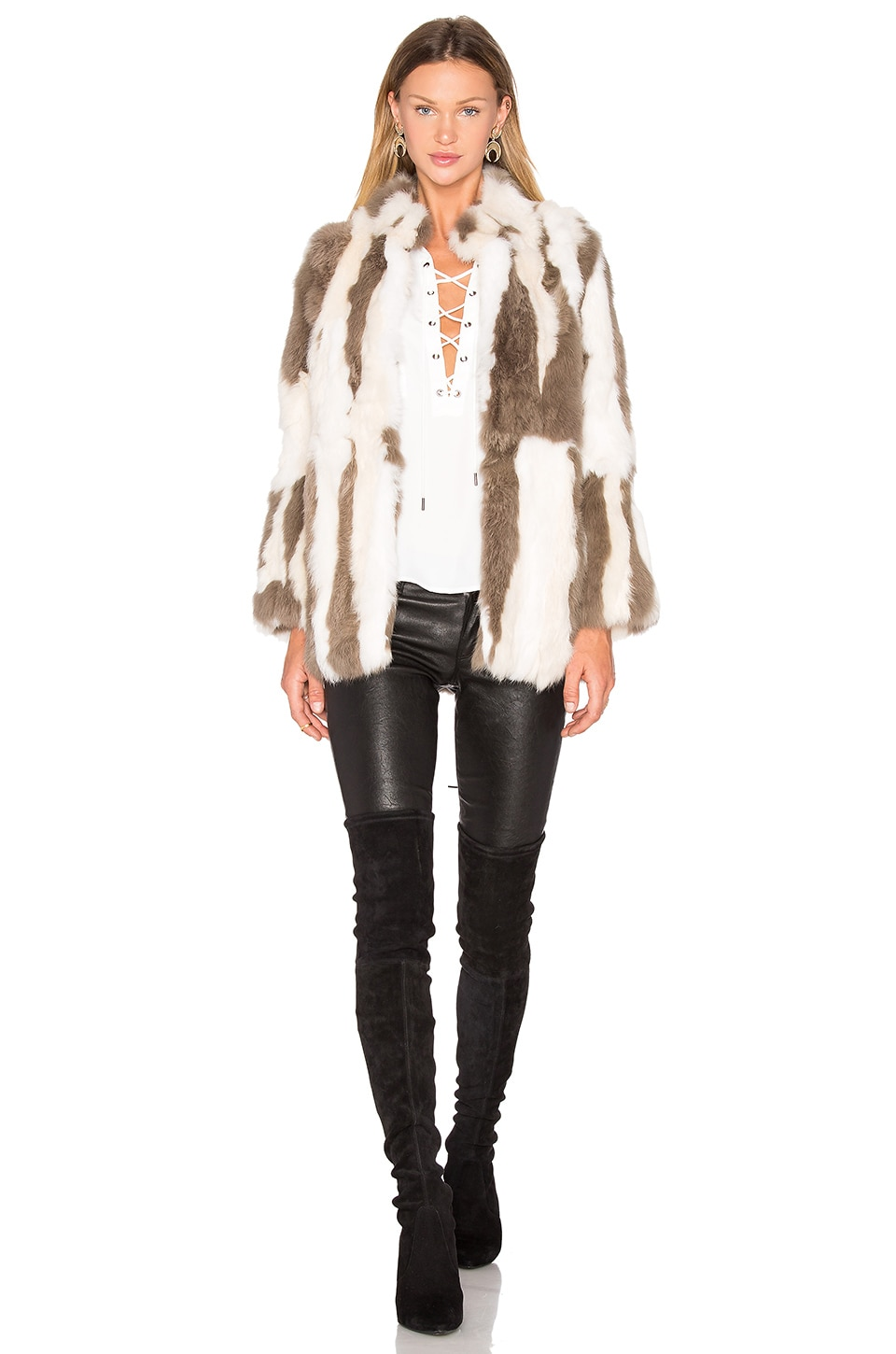 Rabbit Fur Jacket by 525 america