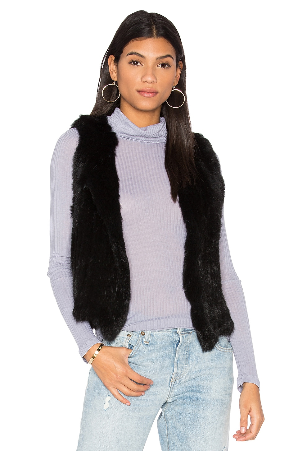 Rabbit Fur Vest by 525 america