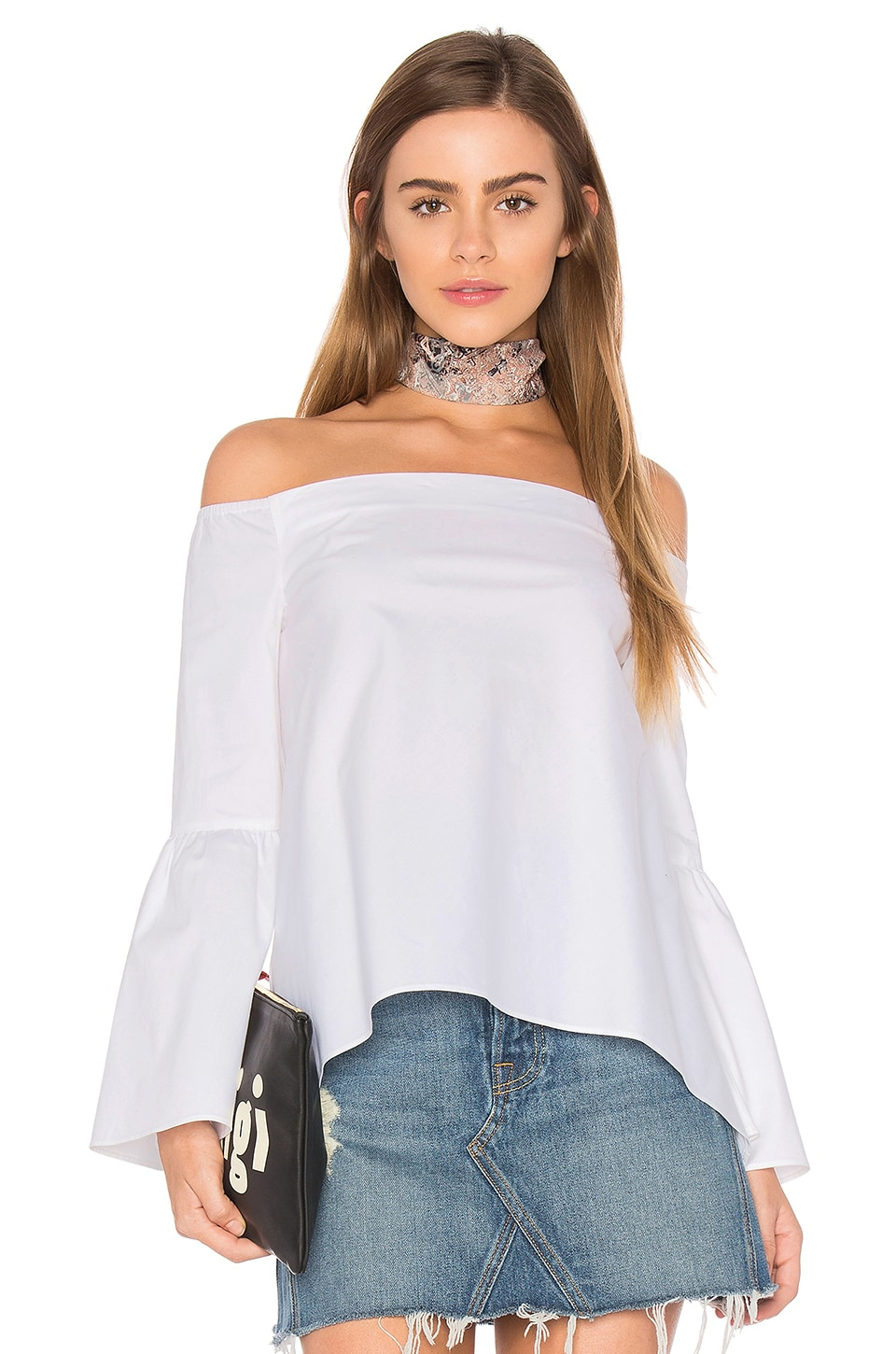 Bell Sleeve Off Shoulder Top by 525 america