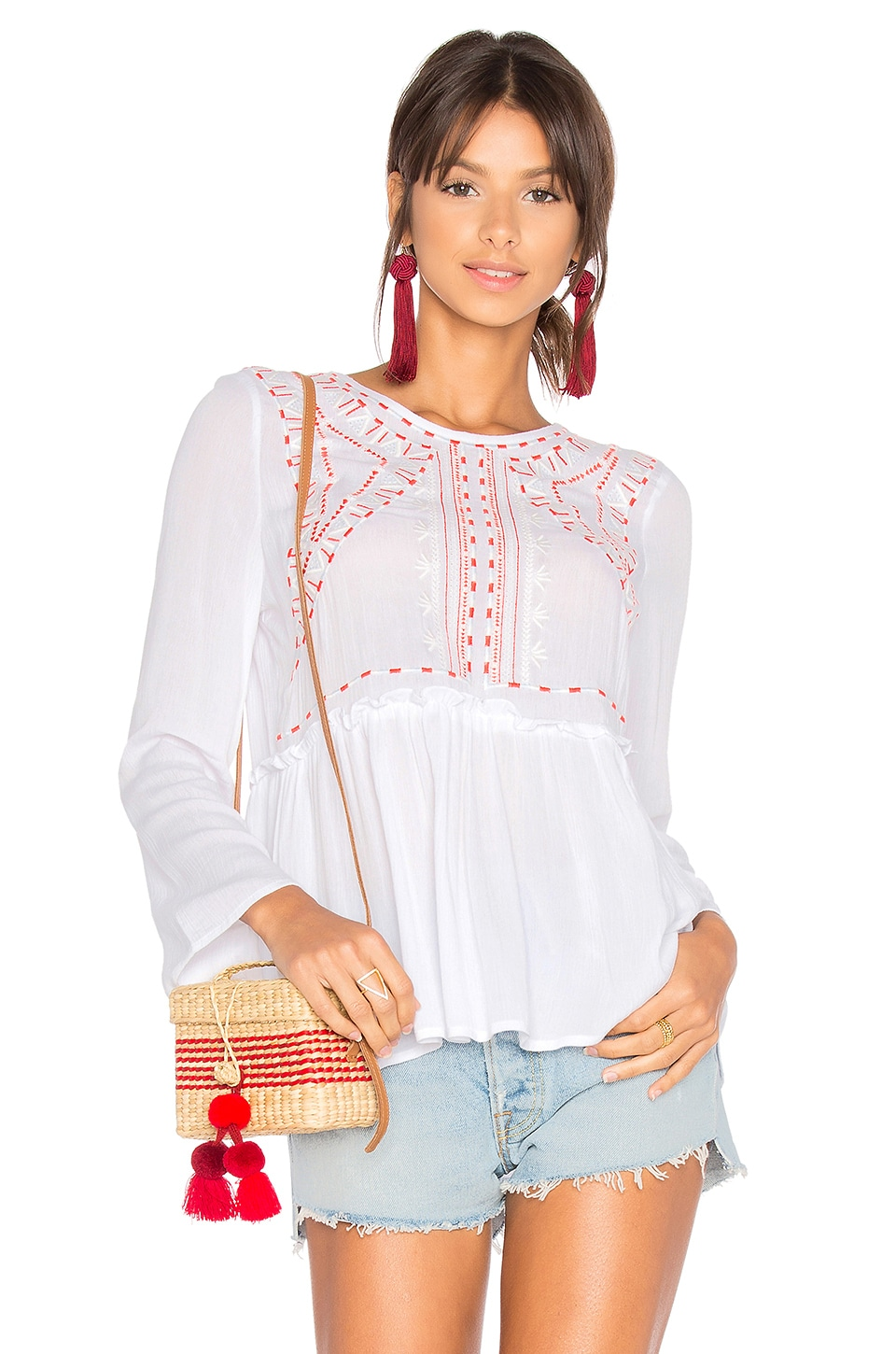 Embroidered Top by 525 america