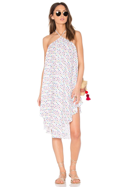 6 SHORE ROAD Cascada Cover Up Dress in Multi Polka Dot
