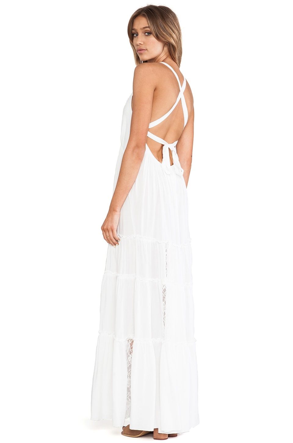 6 SHORE ROAD Twin Isles Maxi Dress in Coconut